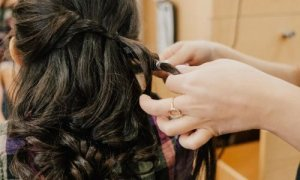 Braiding a woman's hair